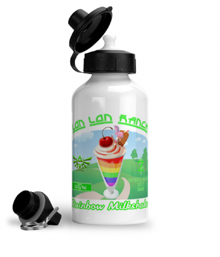 Legend of Zelda Lon Lon Ranch Rainbow Milkshake Aluminium Sports Water Bottle